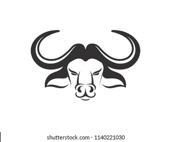 Head of Bull, buffalo, vector logo and symbol