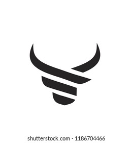 head bull logo icon designs vector