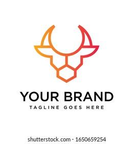 head bull logo icon designs vector