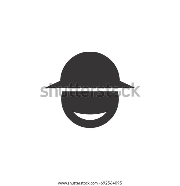 head with cap logo
