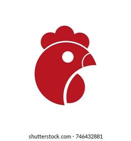 Head of chicken logo design concept vector illustration for animal shop, etc