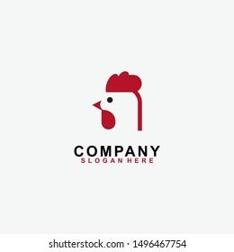 Head Chicken logo design template. Modern design. Vector Illustration