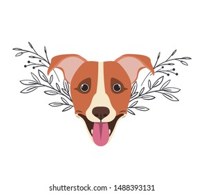 Splatter Animal ART PRINT Jack Russell Terrier illustration Dog Wall Art