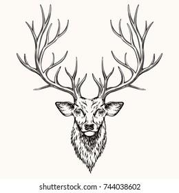 Deer Head Images Stock Photos Vectors Shutterstock