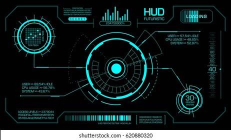 Head up display futuristic. Image vector.