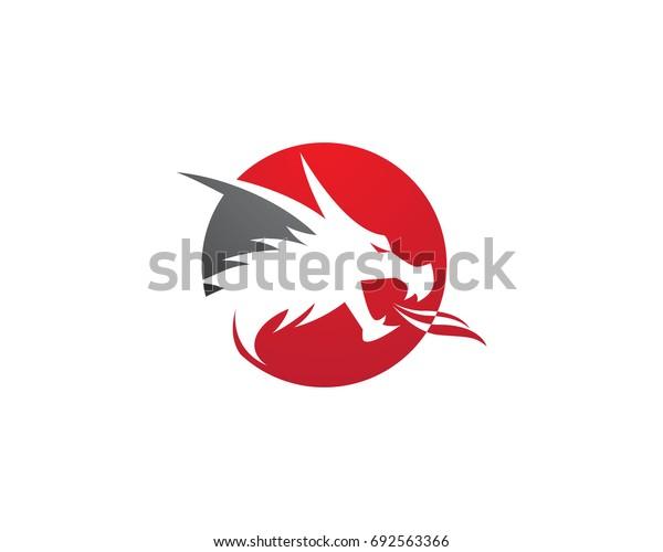 Head dragon logo template