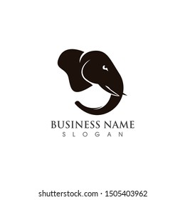 Head of elephant logo template vector