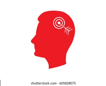 head, goal, target, icon, vector illustration eps10