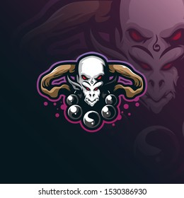 head gods mascot logo design vector with modern illustration concept style for badge, emblem and tshirt printing. head illustration for sport and esport team.