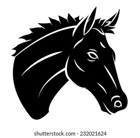Similar Images Stock Photos Vectors Of Horse Head Silhouette