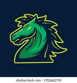 head Horse mascot,icon,E-sport Logo design inspiration.