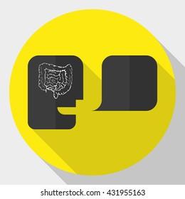 head icon digestive system logo