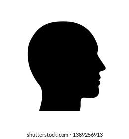 Head icon sign – vector