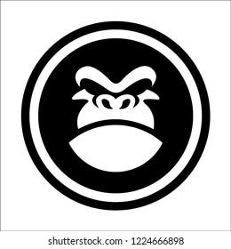 head mascot Gorilla logo icon