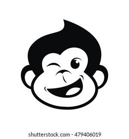 Head of a monkey vector