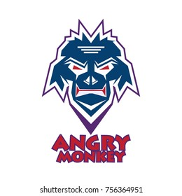 head monkey vector logo