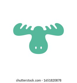 Head moose logo character. Head moose vector.