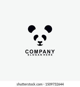 Head Of Panda Logo Design Template. Modern Design. Panda Logo. Vector Illustration