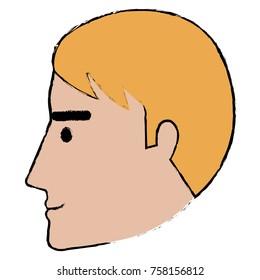 head profile man avatar character