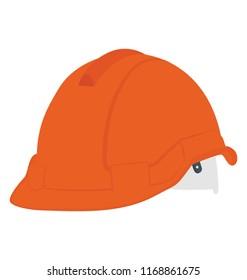 Head protection helmet icon