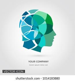 Head silhouette , creative design, Logo / Icon
