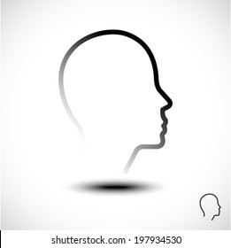 head silhouette. vector background