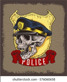 HEAD SKULL POLICE OFFICER