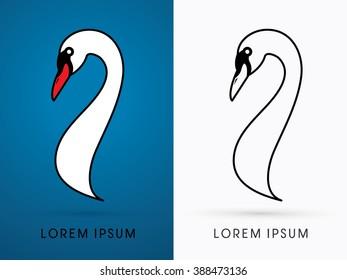 Head Swan graphic vector