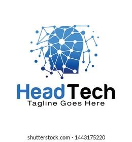Head Technology logo design template