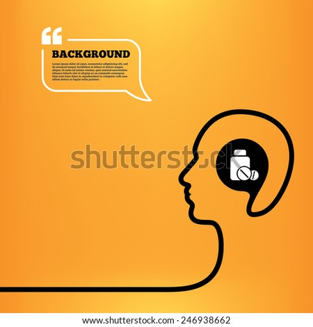 Super Head Think Speech Bubble Medical Tablets Stock Vector Beutiful Home Inspiration Ommitmahrainfo