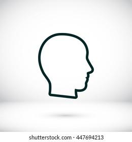head vector icon