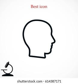 head vector icon, flat design best vector icon