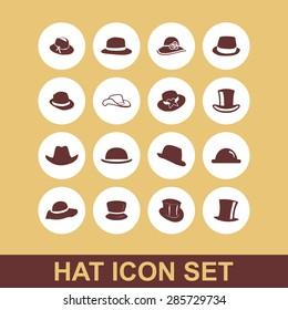 head wear hat gentleman icon set