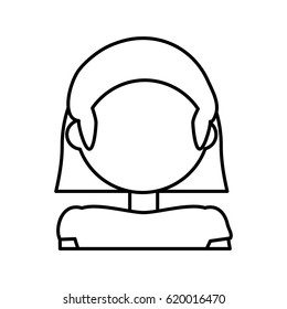 head woman female outline