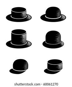Headdress icon set