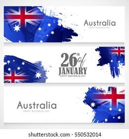 Header or banner for Australia day celebration.