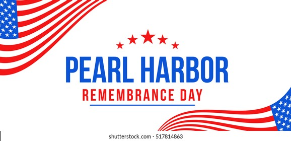 Header or banner of Pearl harbor remembrance day background.