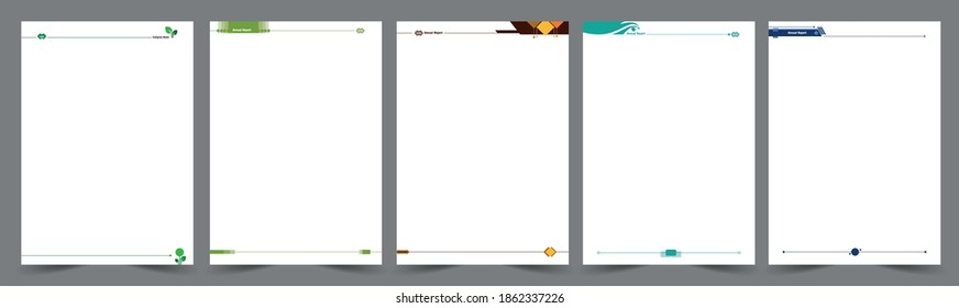 Header footer design for book inner page template