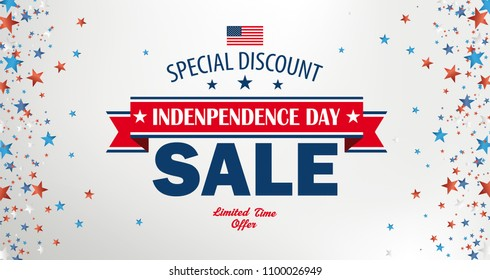 Header for the Independence Day sale. Eps 10 vector file.