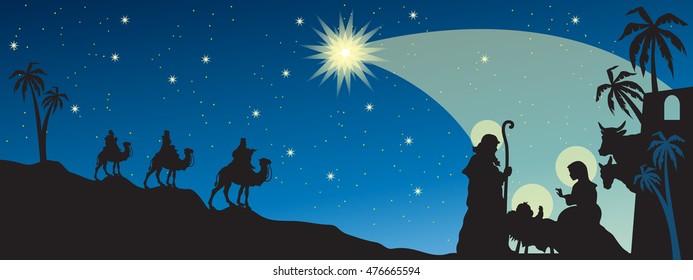 Header with Nativity