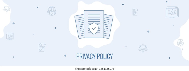 Header vector graphic for privacy policy