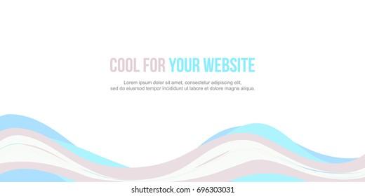 Header website abstract elegant design