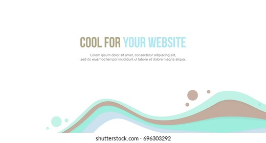 Header website abstract pink wave