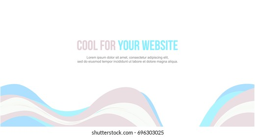Header website abstract wave design collection