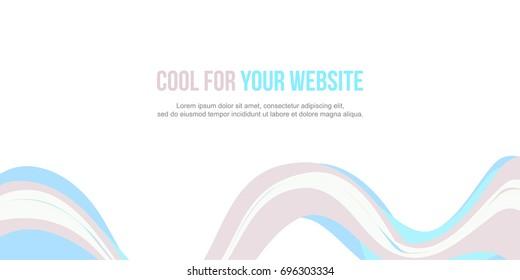 Header website abstract wave design