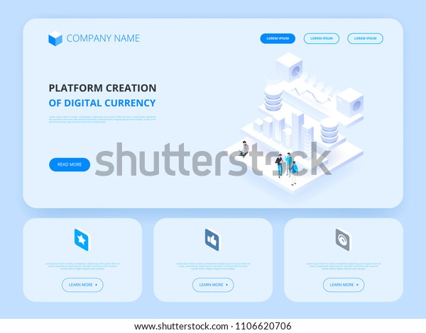 Header Website Cryptocurrency Blockchain Platform Creation