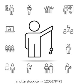 headhunting icon. Business Organisation icons universal set for web and mobile