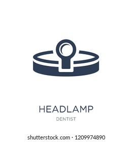 Headlamp icon. Trendy flat vector Headlamp icon on white background from Dentist collection, vector illustration can be use for web and mobile, eps10