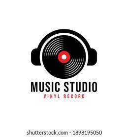 Headphone DJ, Music Studio Recording, Logo Design Inspiration