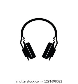Headphone flat vector pictogram.